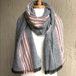 Accessories - Olive and Rust Oblong Blanket Scarf. NWT.